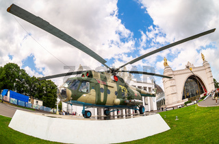 Russian Air Force Mi-8 helicopter in camouflage painting