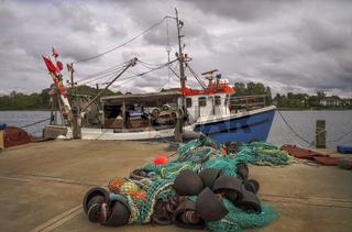 Am Fischereihafen von Kappeln (Schleswig-Holstein)