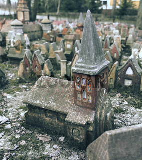 Tiny Fairy Clay Medieval Houses