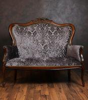 Vintage sofa in a dark room