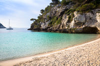 Cala en Turqueta (Turqueta Beach) in Menorca, Spain