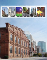 Durham collage and downtown