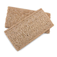 Two crispbread with bran of white background