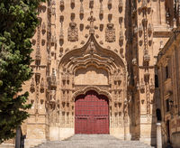 Side entrance door to the New Cathedral in Salamanca