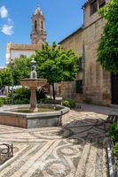 San Andrés Platz, Cordoba, Andalusien, Spanien, Europa