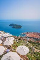 View of Dubrovnik from Srd Hill