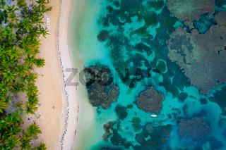Aerial view of El Portillo beach