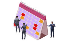 Business calendar concept with businessman