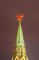 Red Star of Moscow Kremlin tower