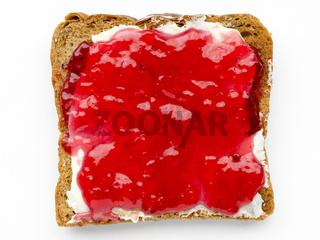 butter and jam toast
