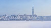 Winter skyline of Latvian capital city Riga Old town