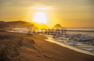 Zipolite beach at sunrise, Mexico