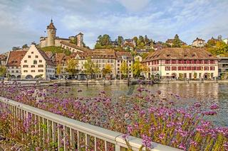 Hochrhein, Festung Munot und Altstadt Schaffhausen, Schweiz