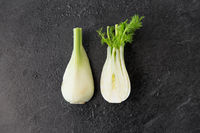 fennel on table on slate stone background