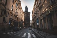 Street in Prague Old City Center