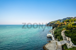 view to the sea at Ancona, Italy