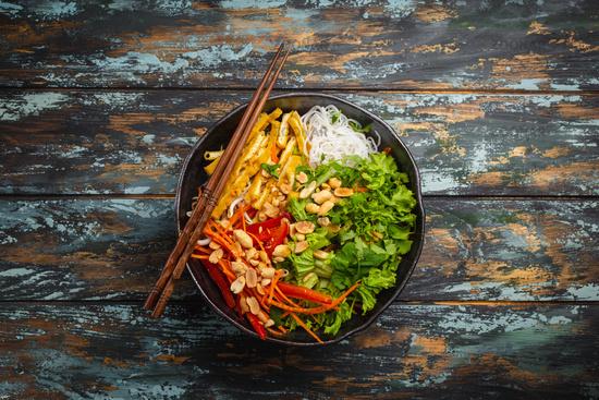 Asian style noodles salad