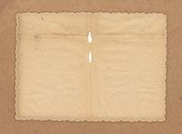 Old photo frame. Vintage paper.