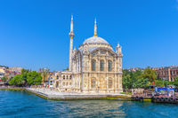 Ortakoy Mosque or Grand Imperial Mosque of Sultan Abdulmecid, close view, Istanbul