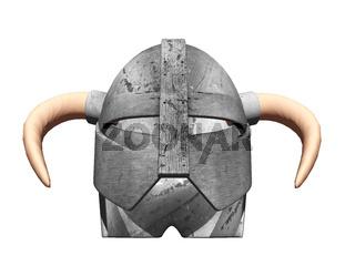 historischer Stahl Helm eines Kriegers