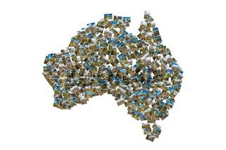 Australia pictures map collage