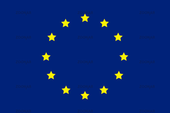 European flag. Union of europe symbol. Blue flag with circle stars. Official Europe sign.