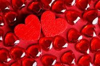 Valentine's day gem crystal hearts