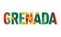 grenada flag text font