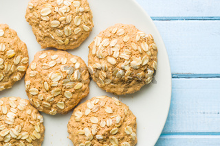 Sweet oatmeal cookies.