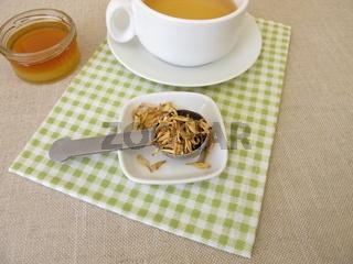 Orangenblütentee, Tee aus getrocknete Orangenblüten von süßen Orangen