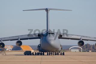 Transporting airplane