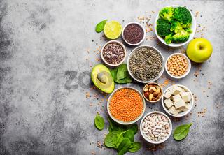 Vegan healthy nutrition
