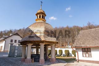 Old well in Monastery of Dicalced Carmelites in Czerna near Krzeszowice (Poland)
