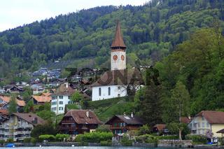 Kirche in Hilterfingen am Thunersee in der Schweiz