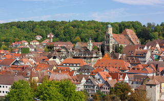 Panorama of Schwäbisch Hall,Baden-Württemberg,Germany