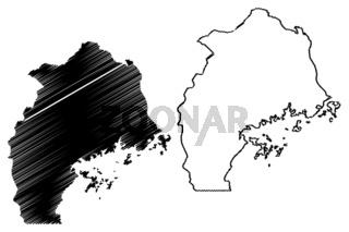 Central Region map vector