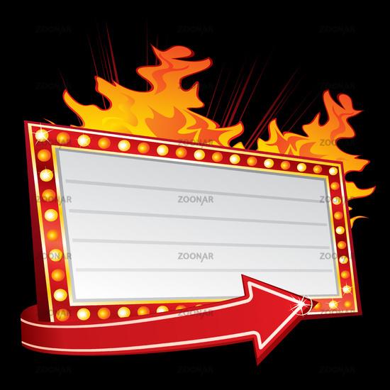 Hot party invitation