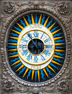 Close-up photo of the vintage clock