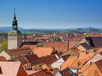 Bautzen, Sachsen, Deutschland: Luftaufnahme von Bautzen mit dem Lauenturm