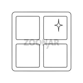 Clean Window Icon Vector