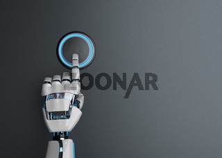 Humanoid Robot Hand Button