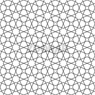 Seamless arabic geometric ornament in black and white.Arabic style.