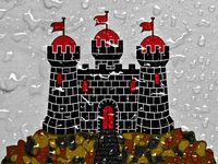 flag of Edinburgh with rain drops
