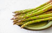 Fresh asparagus on the plate