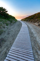 Sonnenuntergang am Strandaufgang