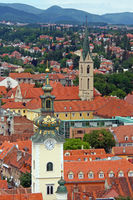 Zagreb roofs