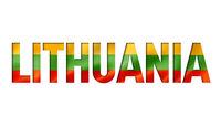 lithuanian flag text font