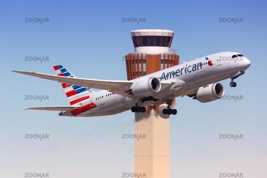 American Airlines Boeing 787-8 Dreamliner airplane Phoenix airport