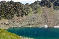 Der Schönrinnenkarsee in Osttirol, Ötztal, Österreich