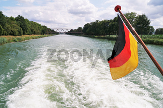 boat cruise on Mittellandkanal - midland canal - in Germany